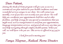 Medical Home Letter From Tanya